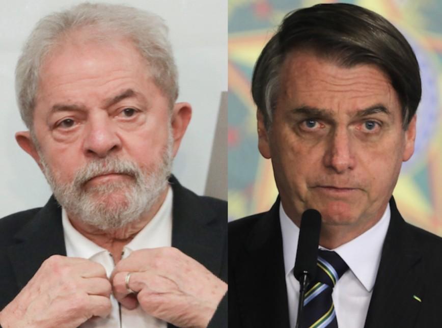 lula bolsonaro 868x644 1 - PESQUISA XP/IPESPE: Lula e Bolsonaro ficam empatados com 29% cada; Lula ganharia no 2º turno