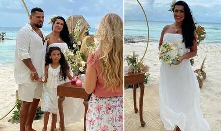 morangu - Naldo e Moranguinho renovam votos com casamento em Cancún