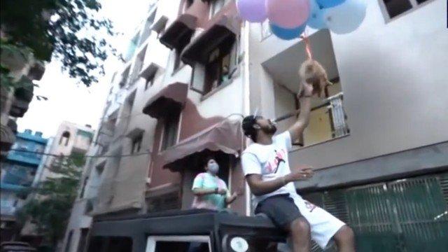 xcao gas.png.pagespeed.ic .9lltMRjhOR - Youtuber é preso após fazer seu cão 'voar' com balões de gás hélio