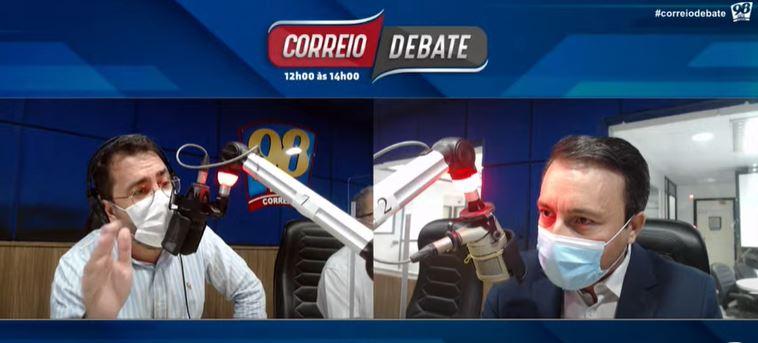 33326 - CONFUSÃO AO VIVO: Lázaro Farias e Victor Paiva discutem durante programa e o Correio Debate sai do ar - VEJA VÍDEO