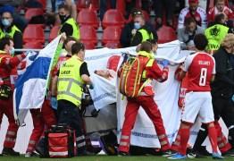 EUROCOPA: craque da Dinamarca desmaia em campo e situação preocupa – VEJA VÍDEO