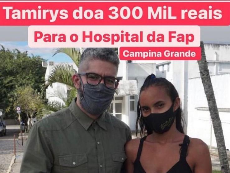 Capturar 97 - Após realizar cirurgia, Tamyris Cordeiro doa 300 mil reais para Hospital da FAP, em Campina Grande