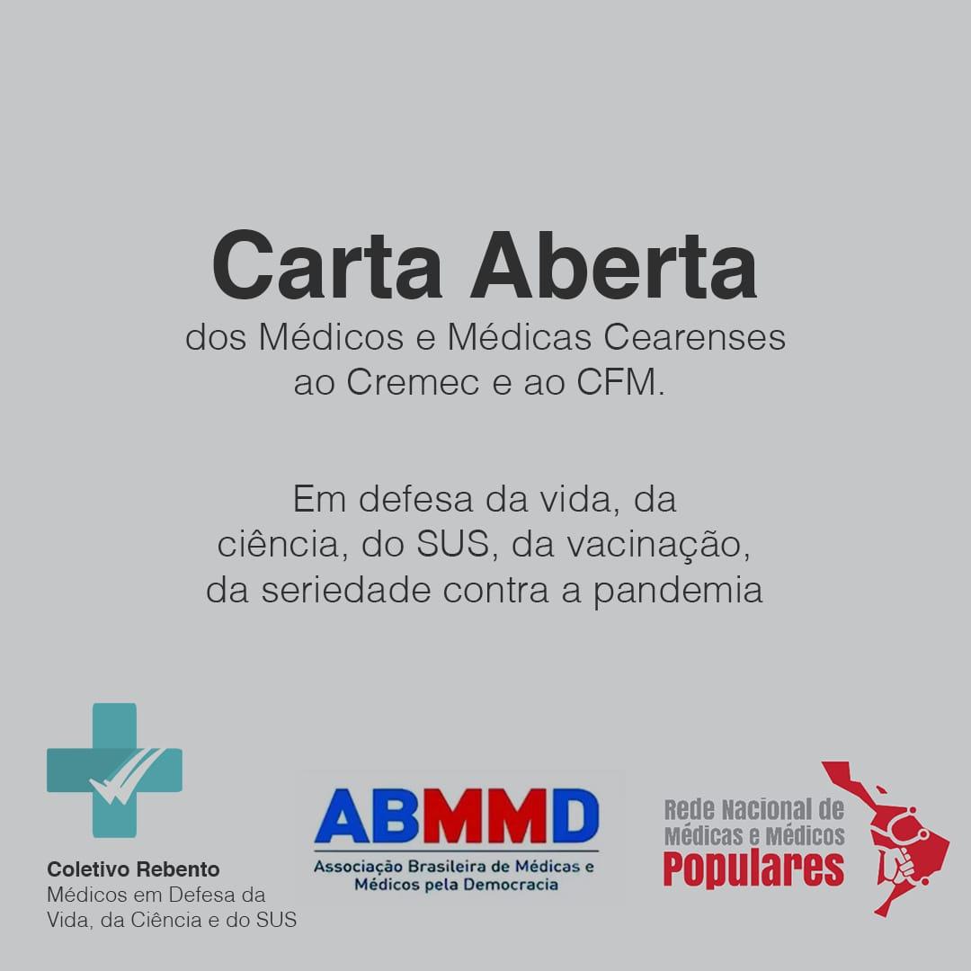 """WhatsApp Image 2021 06 05 at 08.16.06 - Médicos emitem 'Carta Aberta"""" em discordância a nota publicada pelo Cremec e CFM a respeito da CPI da Pandemia - CONFIRA"""