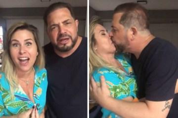 andrea sorvetao e conrado - Ex-Paquita Sorvetão e marido pedem patrocínio e justificam: 'Somos um casal hétero, cristão e tradicional' -VEJA VÍDEO