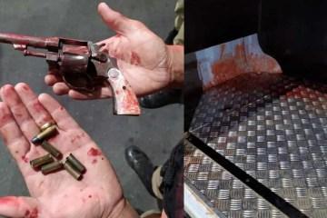 arma - Homem invade casa da ex para matar namorado atual dela e leva 4 tiros no rosto