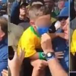 bolsonaro mascara crianca e1624582213228 - Bolsonaro volta a se envolver em polêmicas e abaixa máscara de criança para tirar fotos - VÍDEO