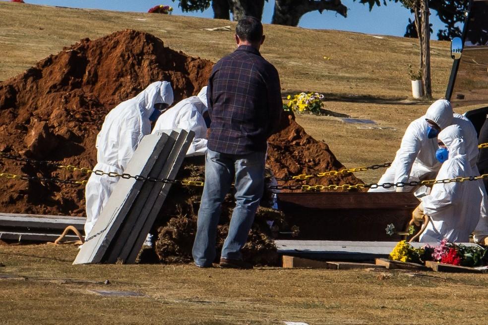 enterro campinas - Brasil registra 2,5 mil mortes por covid-19 nas últimas 24h