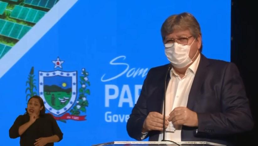 """joa - Durante pronunciamento, João Azevêdo fala sobre a importância do uso da máscara e manda indireta """"Não acreditem no que dizem por aí"""""""