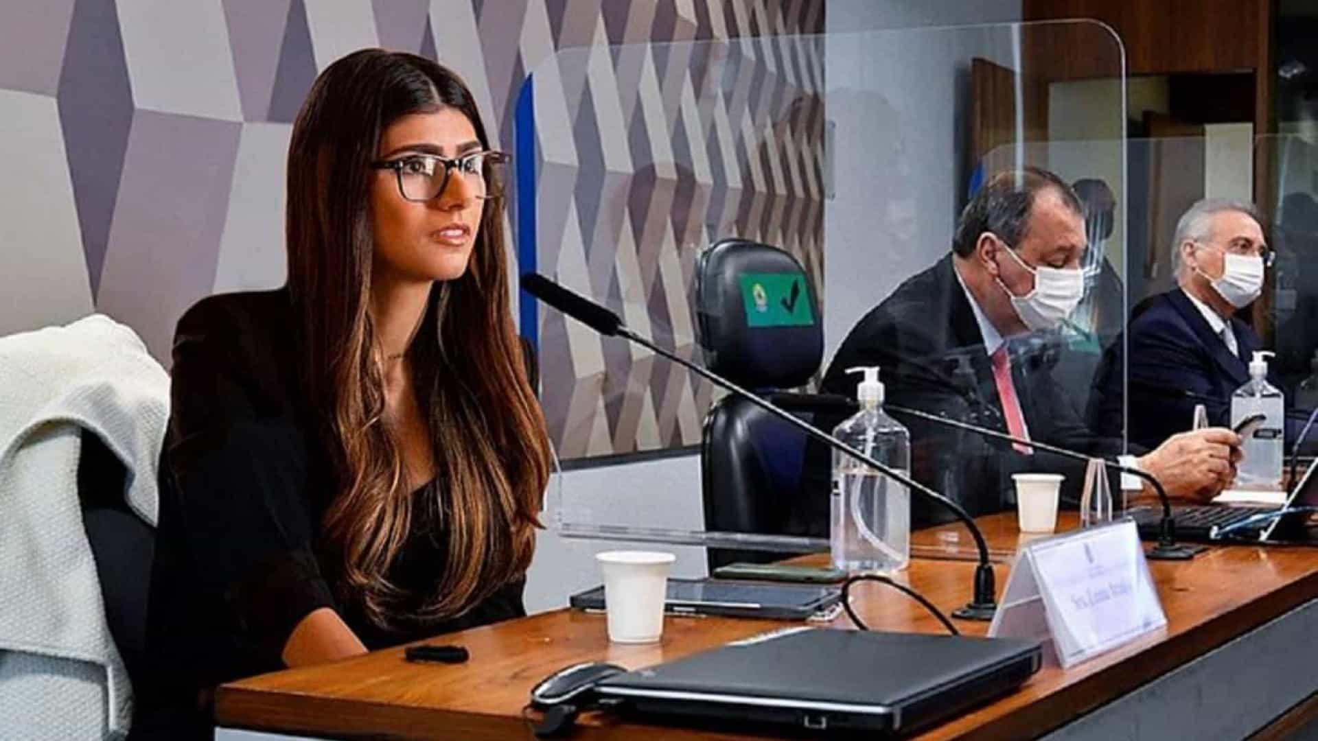 mia khalifa - Citada na CPI da Covid, Mia Khalifa ex-atriz pornô publica montagem no Senado