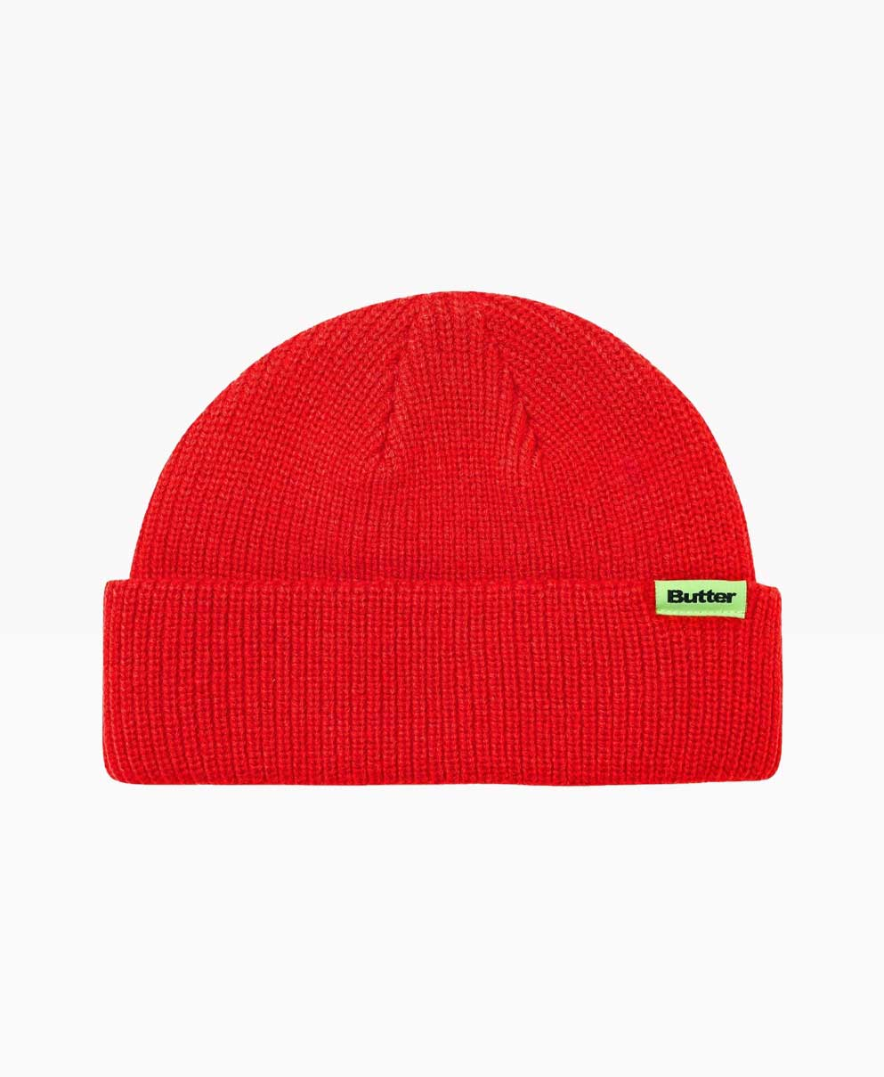 Butter Goods Wharfie Red Beanie Front