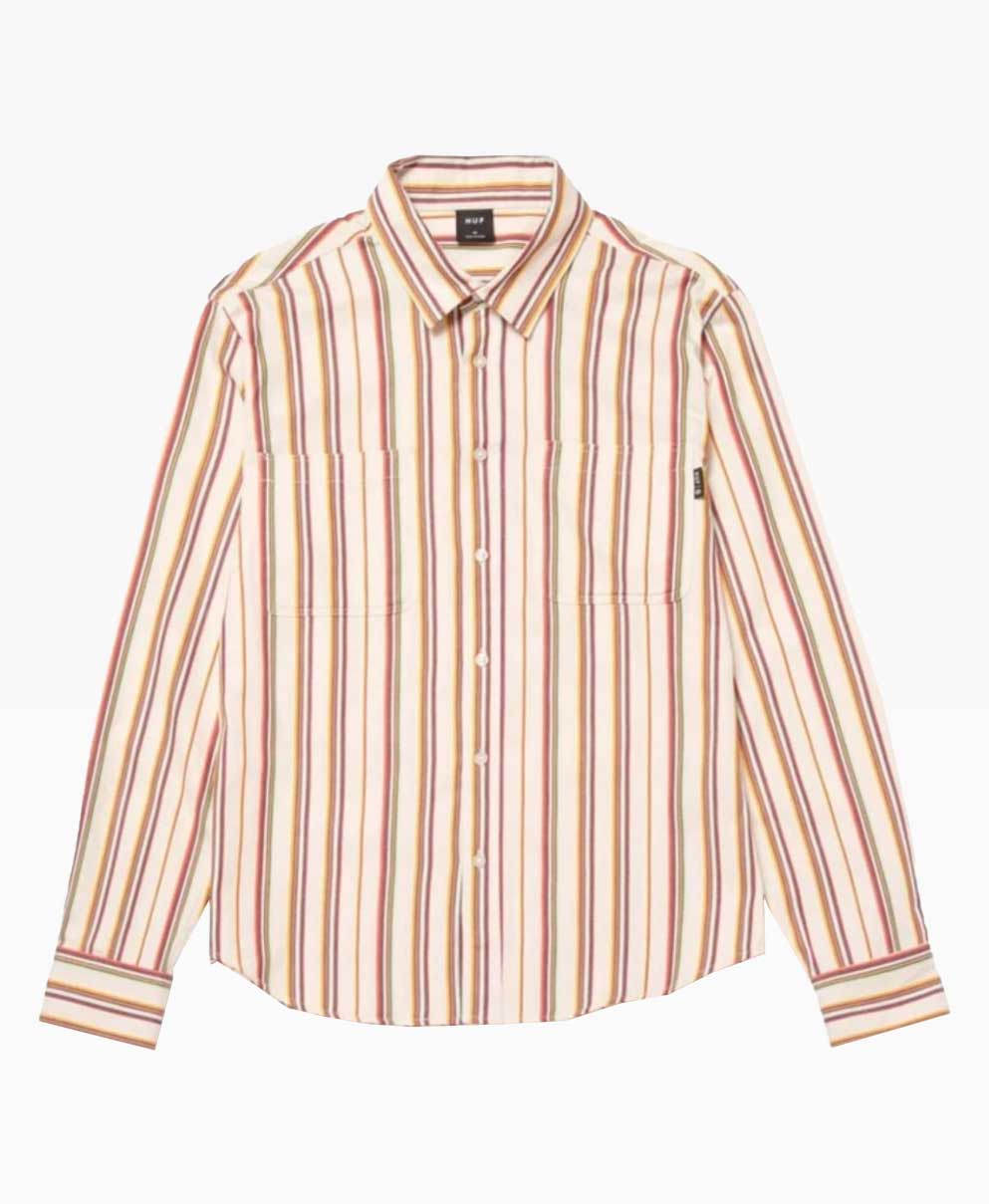 Huf Taylor Work Woven Ls Shirt Front