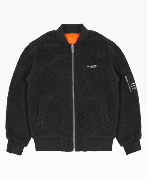 Wasted Bombers Gavin Reversible Noir Front