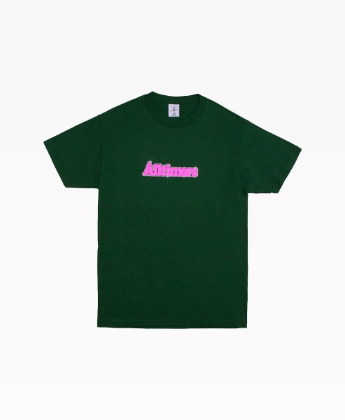 Alltimers Barbay Broadway Logo Tee Forest Green Front