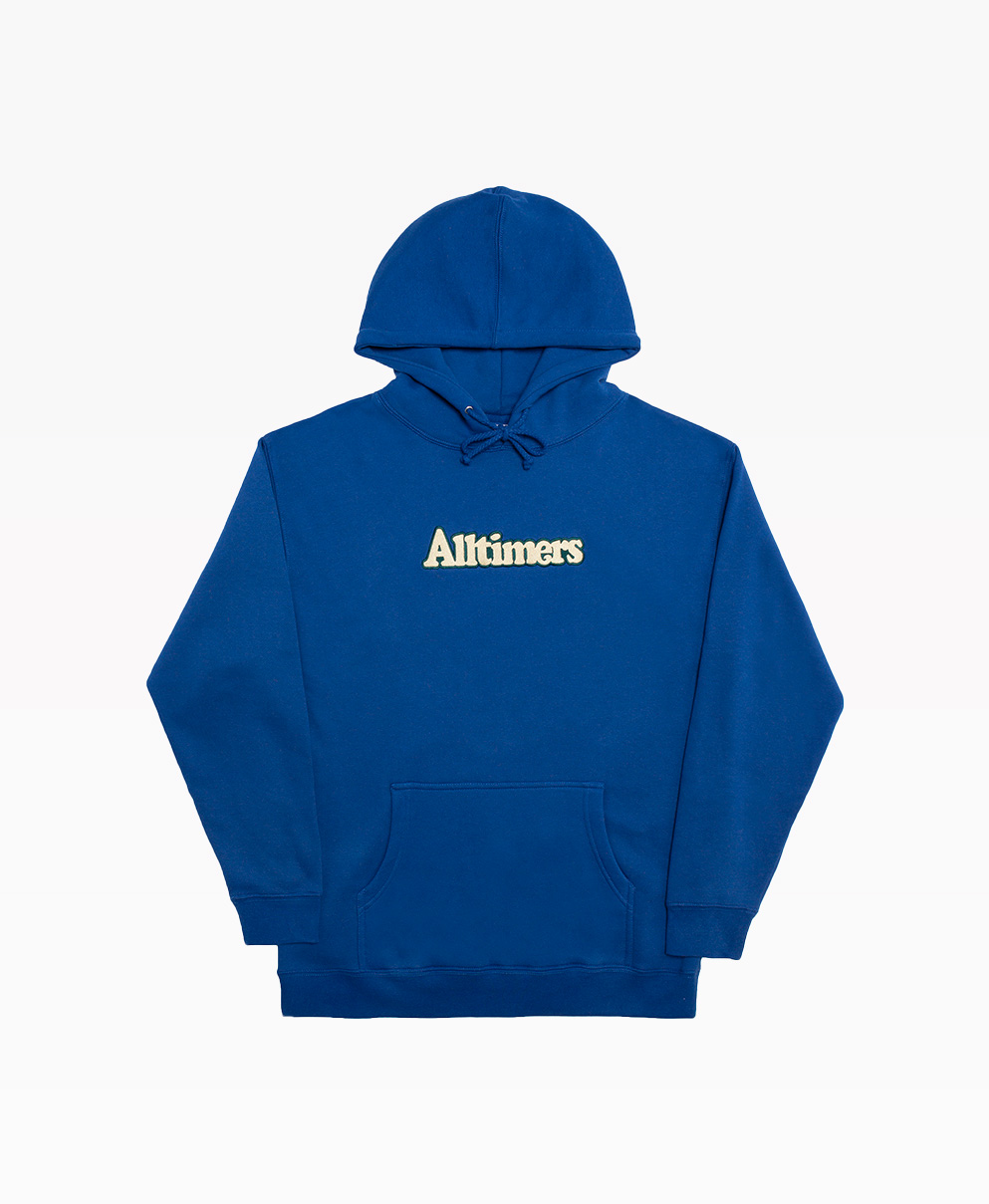 Alltimers Embroidered Broadway Hoodie Royal Blue Front