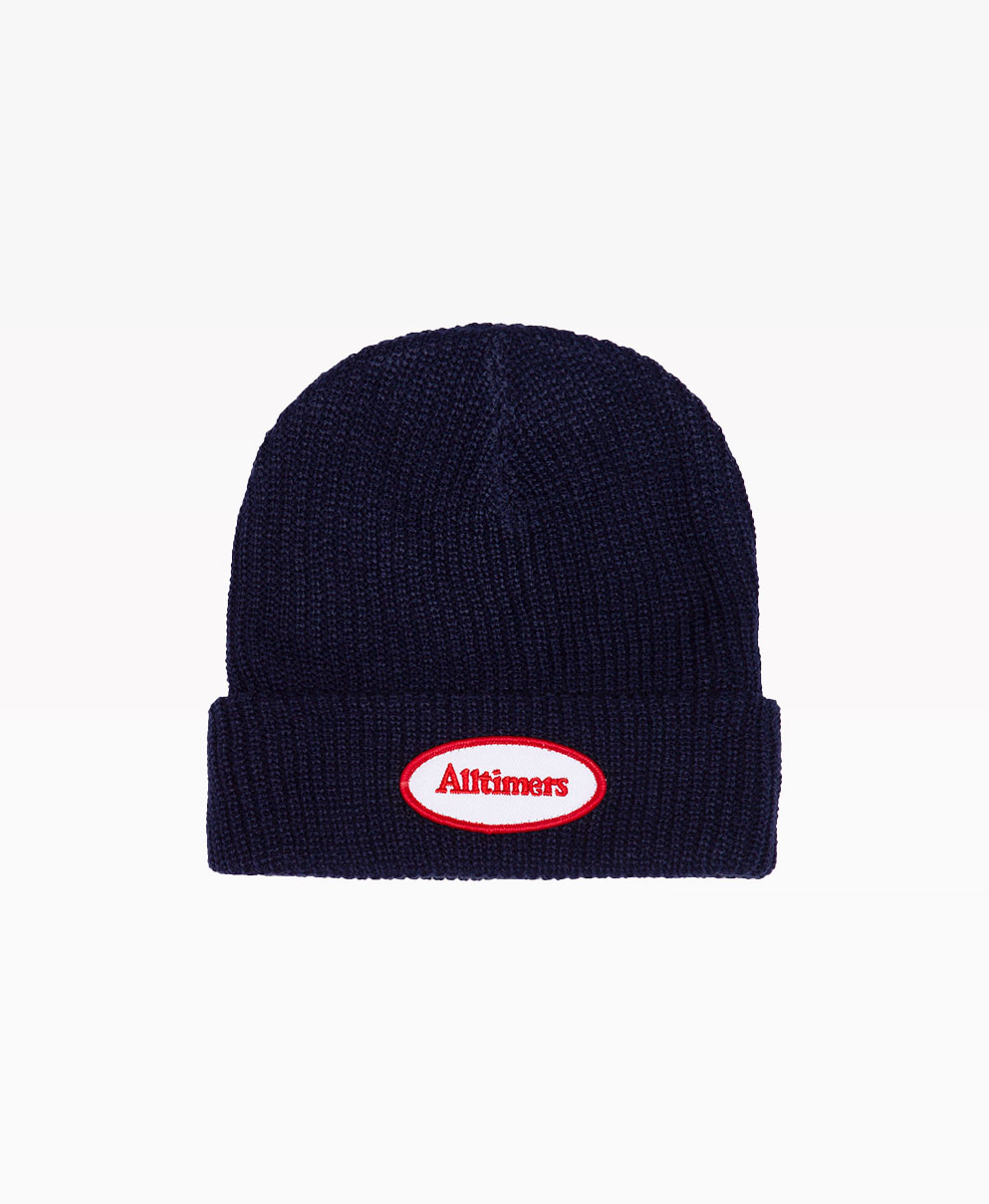 Alltimers Tankful Beanie Navy Front
