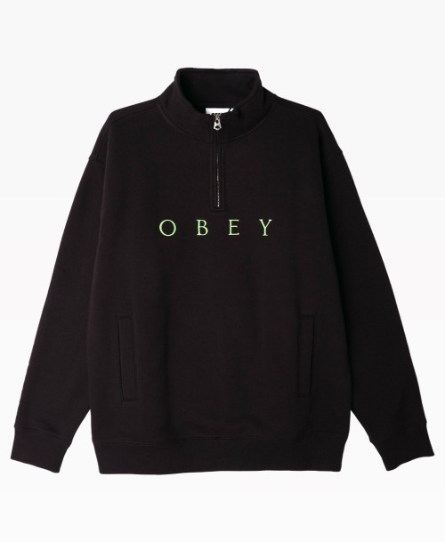 Obey Clothing Lassen Mock Neck Zip Front