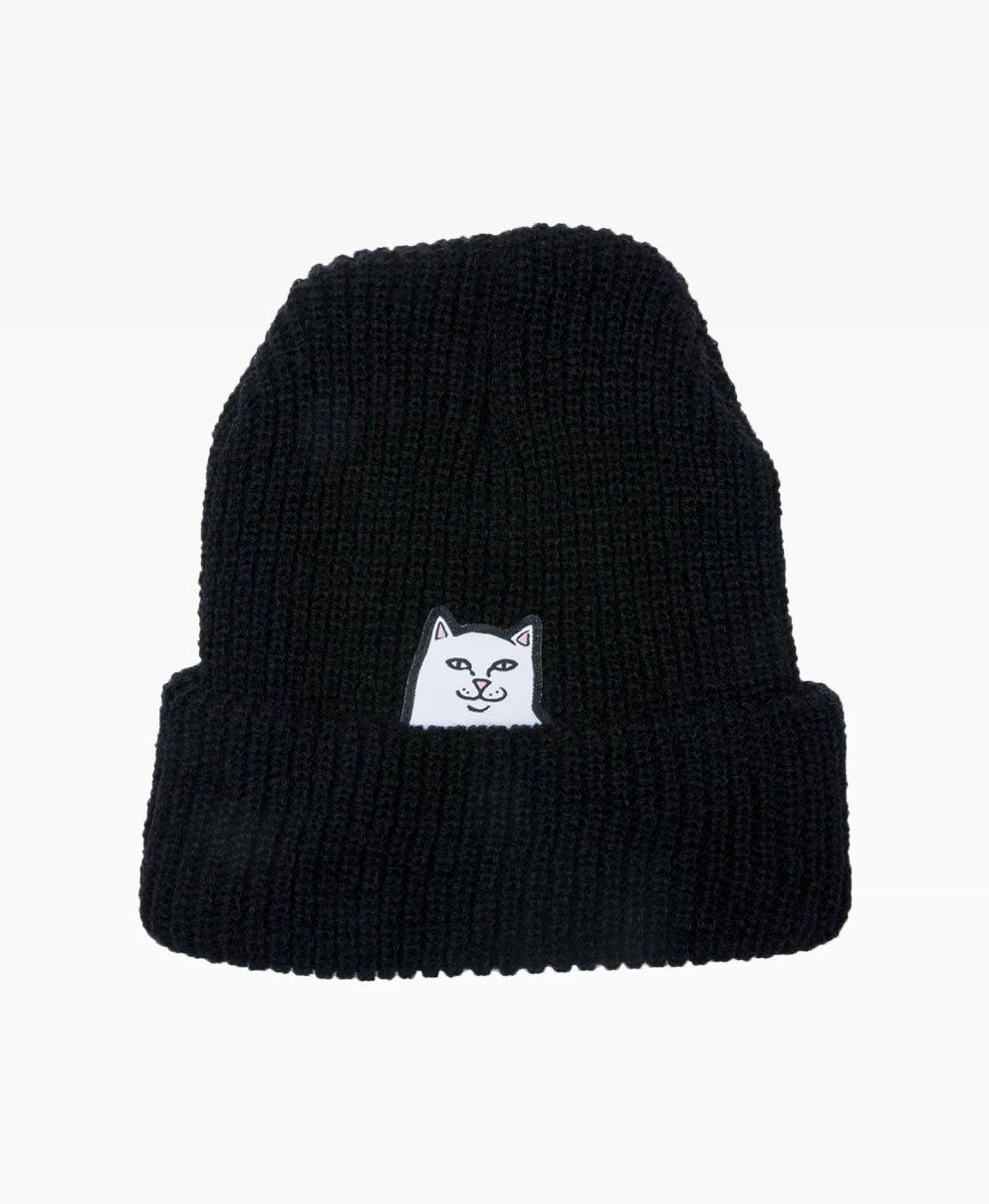 Ripndip Lord Nermal Ribbed Beanie Black Front
