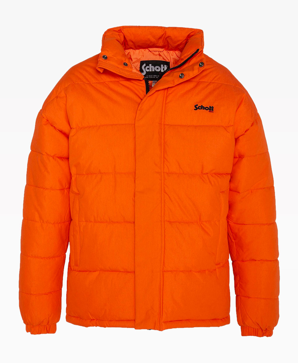 Schott Nebraska Orange Puffer Front