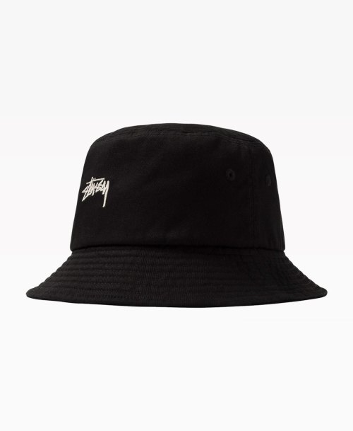 Stussy Stock Bucket Hat Black Front