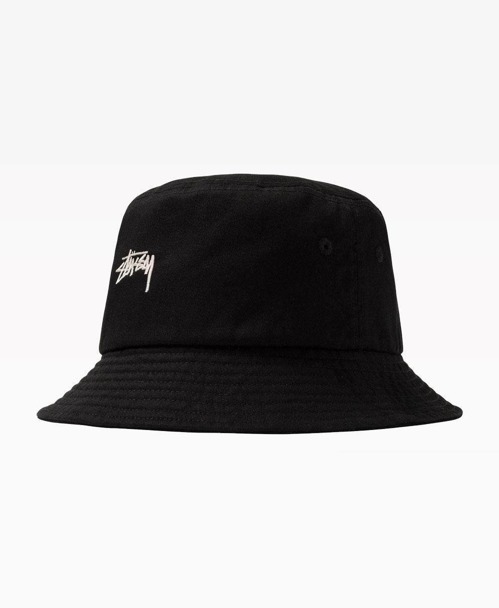 Stussy Stock Bucket Hat Black Front