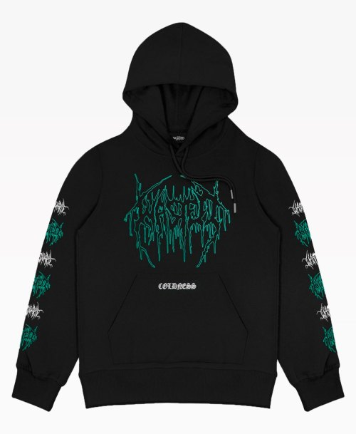 Wasted Coldness Hoodie Black Front