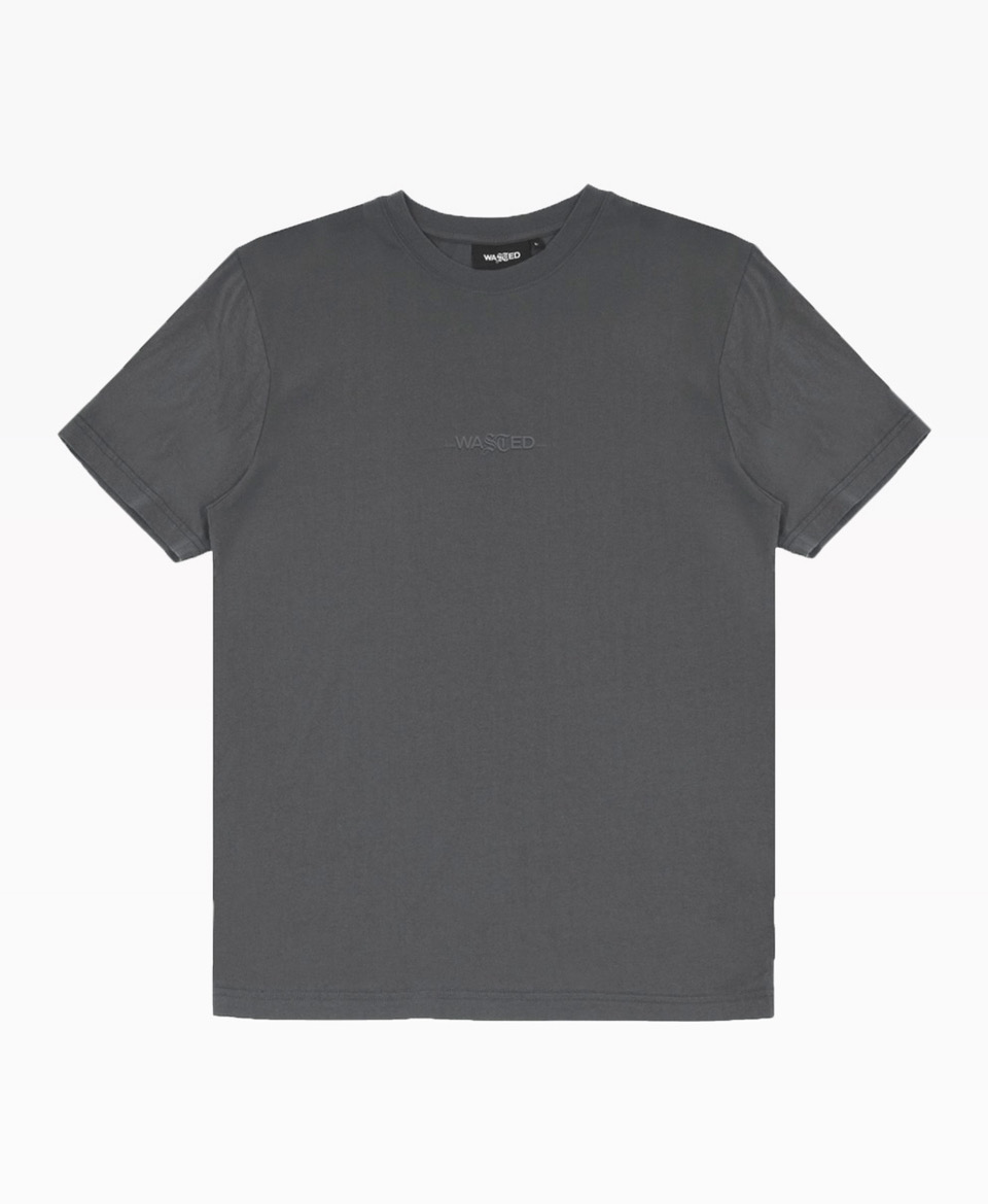 Wasted Essential Tee Grey Front