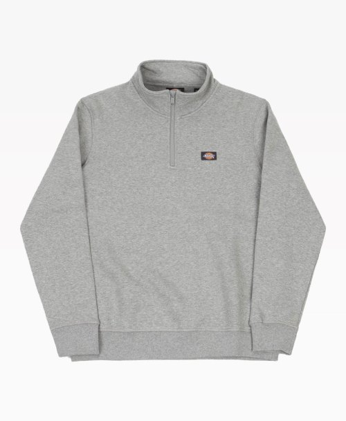 Dickies Oakport Quarter Zip Sweater Grey Front