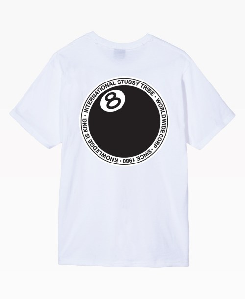 Stussy 8 Ball Dot Tee White Back