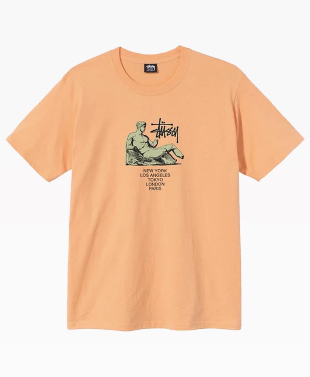 Stussy Dyonisios Tee Peach Back