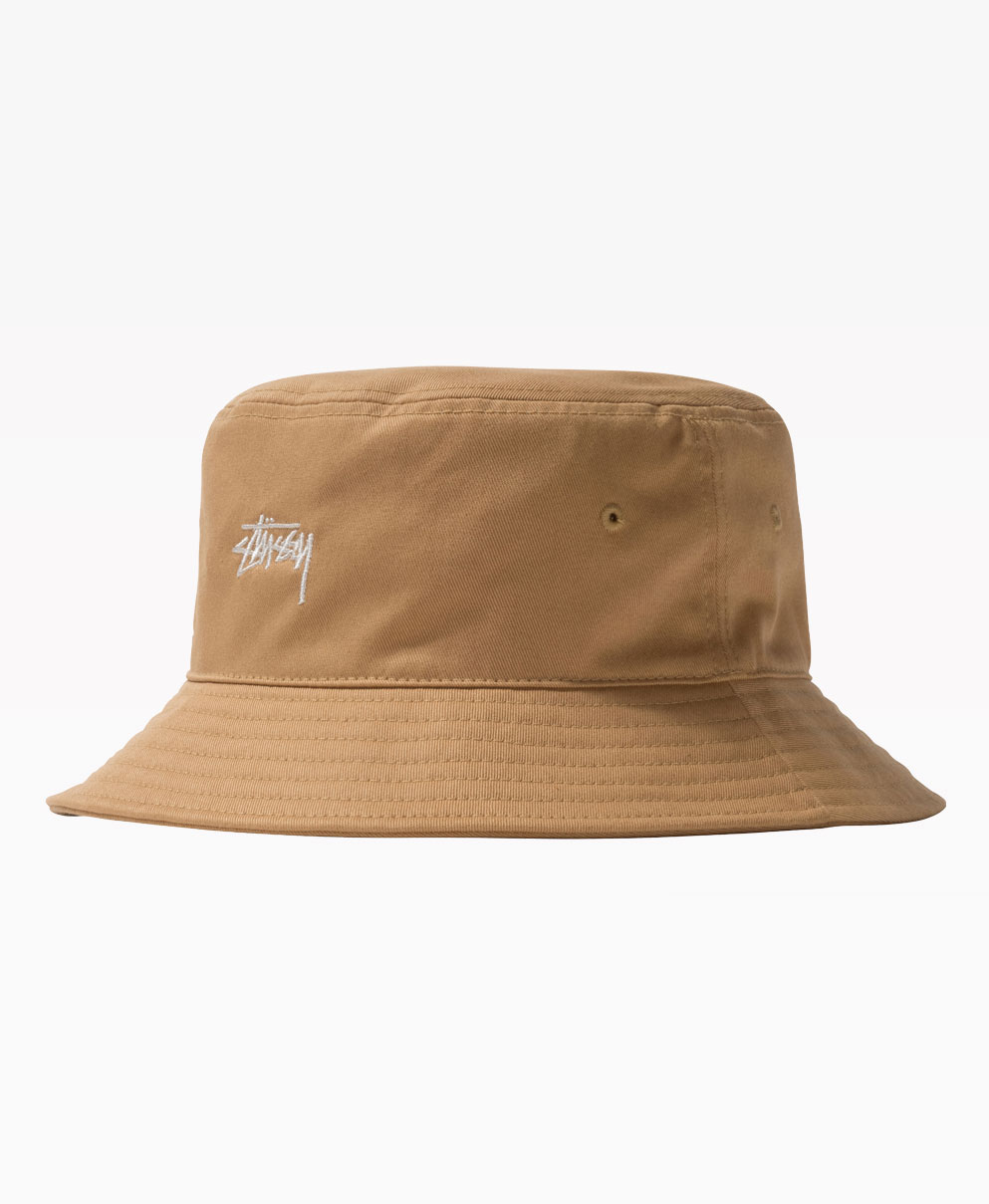 Stussy Stock Bucket Hat Khaki Front