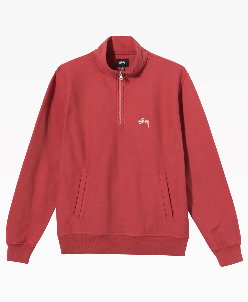 Stussy Stock Logo Mock Pale Red Front