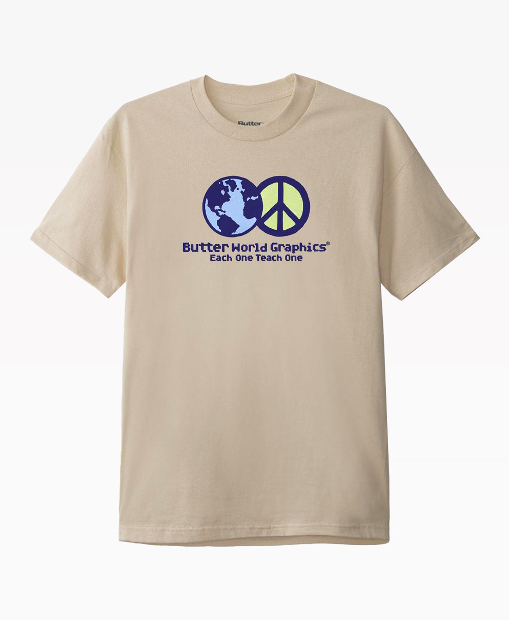 Butter Goods World Peace Tee Sand Front