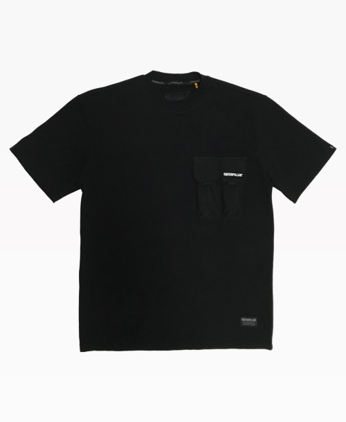 Cat Two Pockets Tee Black Front