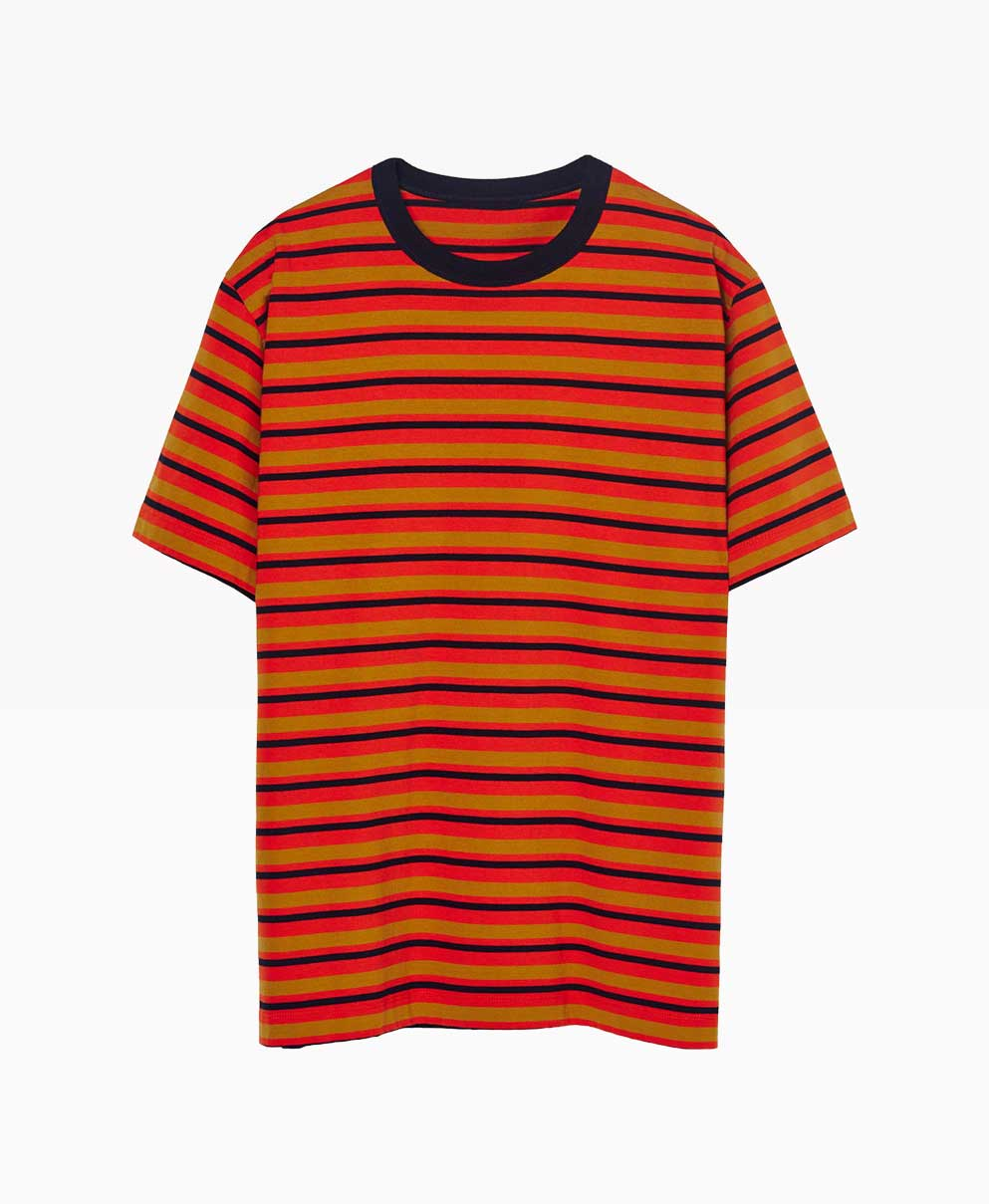 Loreak Mendian Ts Mate L Lo Jersey Tee Stripes Front