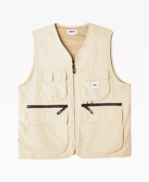 Obey Clothing Warfield Vest Humus Front