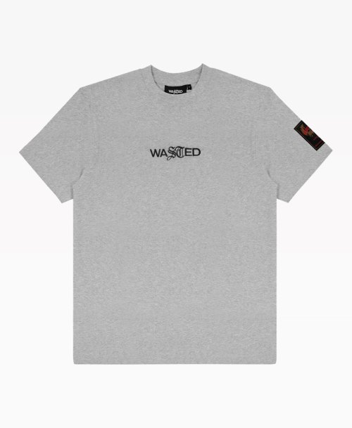 Wasted Essential Tee Ash Grey Front