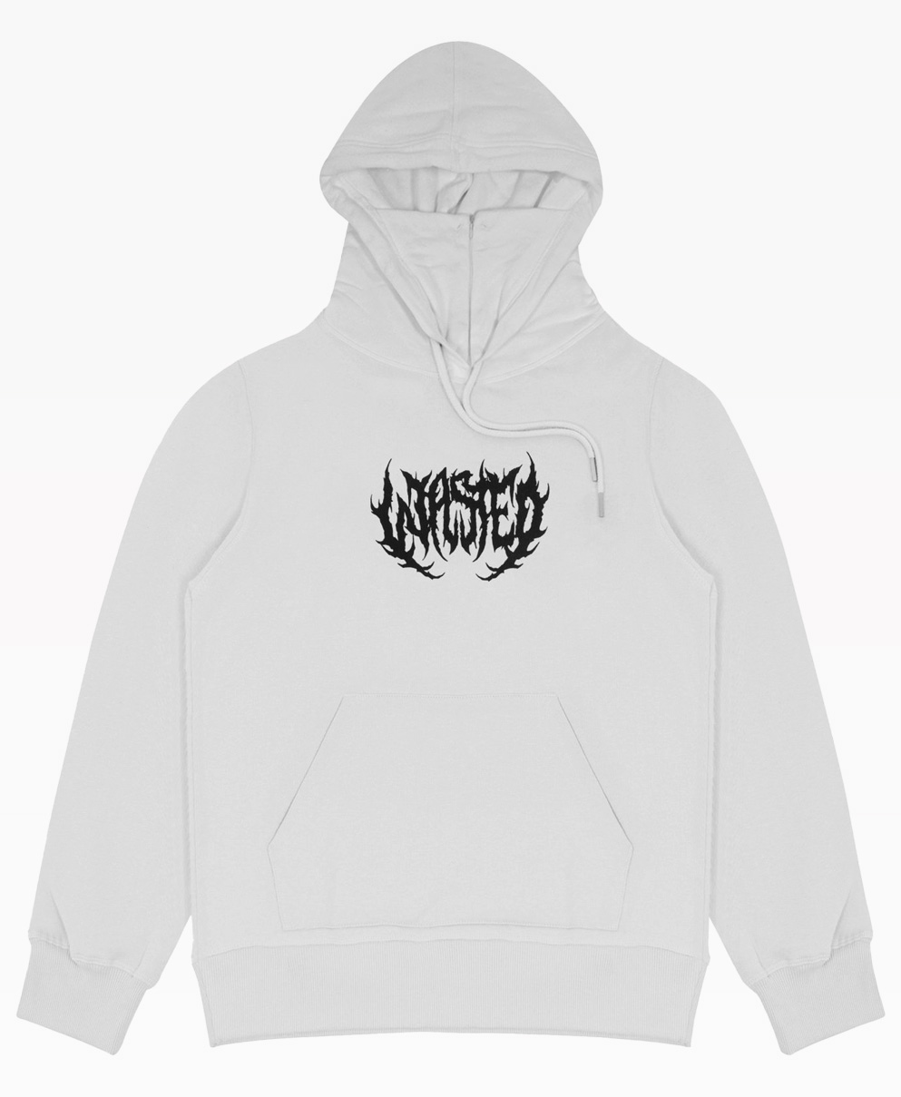 Wasted Faithless Hoodie White Front