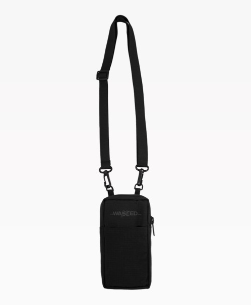 Wasted Pouch Bag Black Front