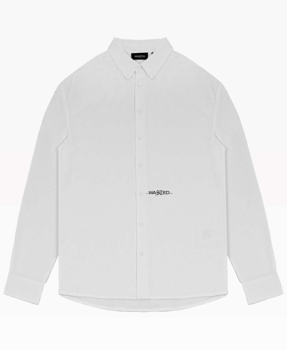 Wasted Signature Shirt White Front