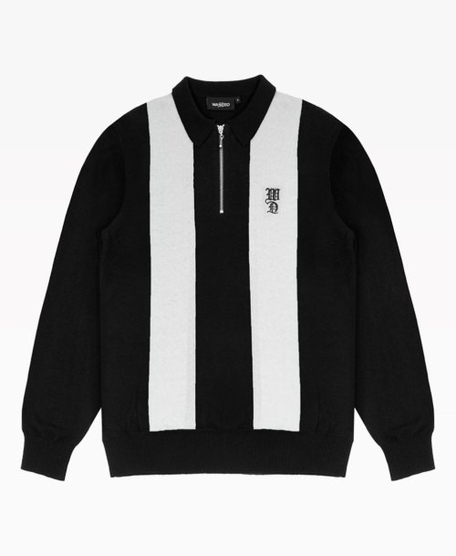 Wasted Strike Ls Polo Black Front