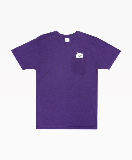 Ripndip Lord Nermal Pocket Tee Royal Purple Front