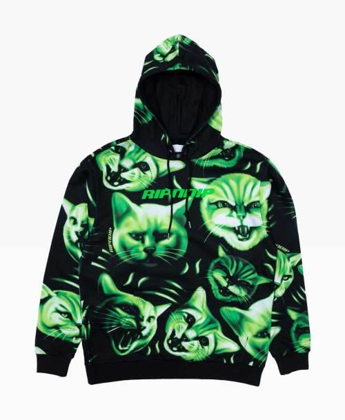Ripndip Neon Nerm Hoodie Blakc Green Front