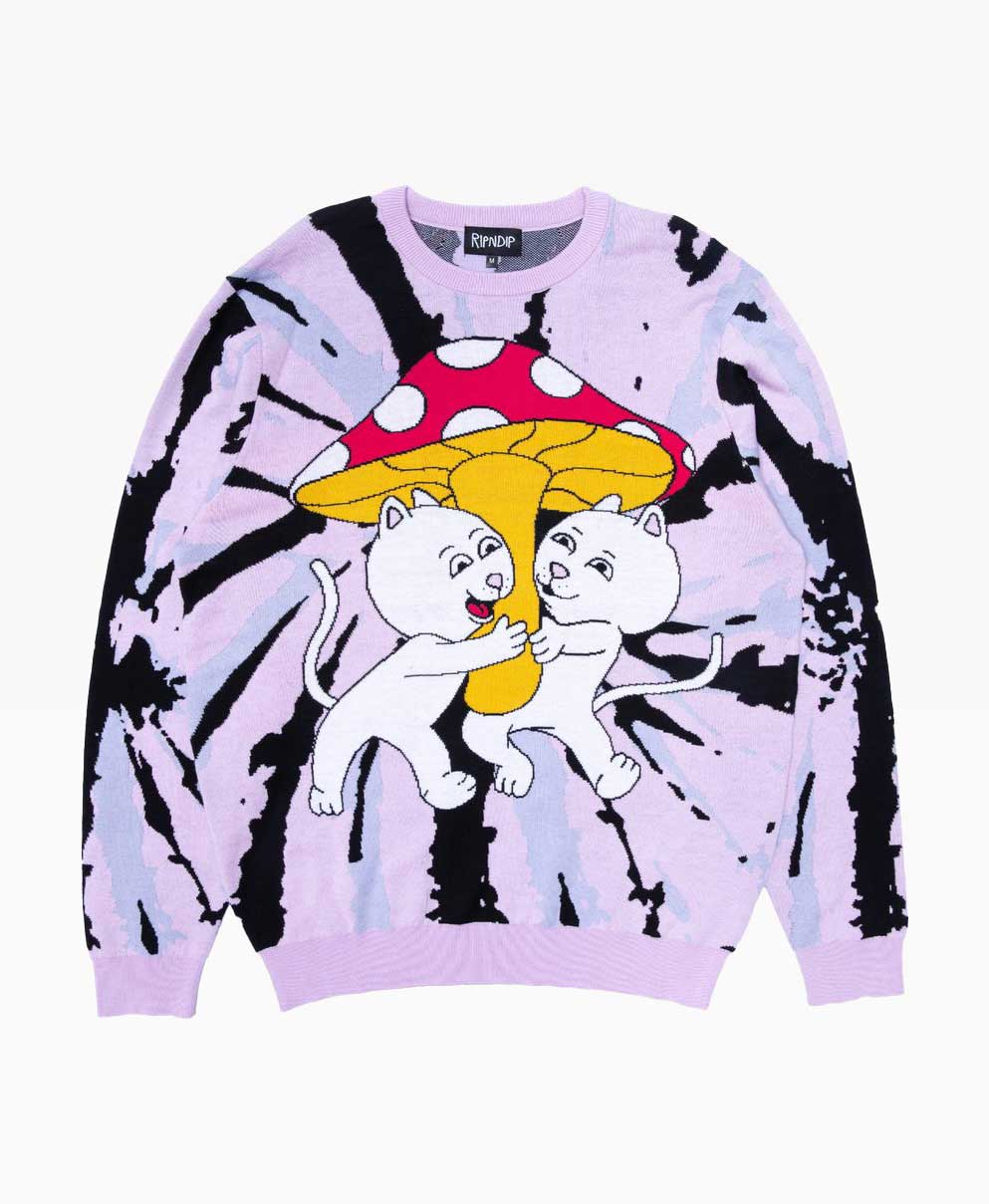 Ripndip Sharing Is Caring Crewneck Knit Sweater Front
