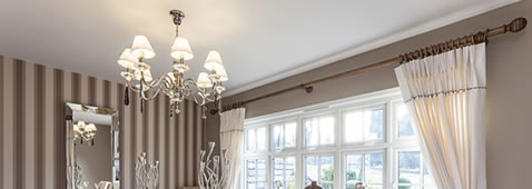 metal extra long wooden curtain poles