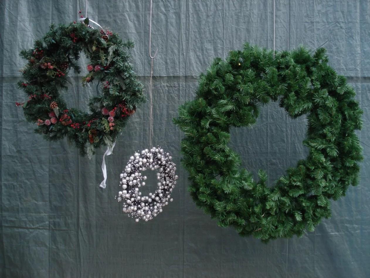 Kerstkrans 1.20 m - Poley Palm - verhuur & verkoop van groendecoraties