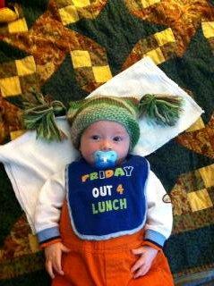 Riley in hat