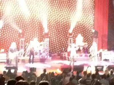 Roxette on stage at the Gibson Amphitheater