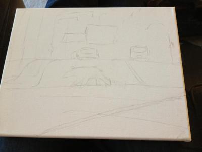 Sketch of Bear Crossing 16