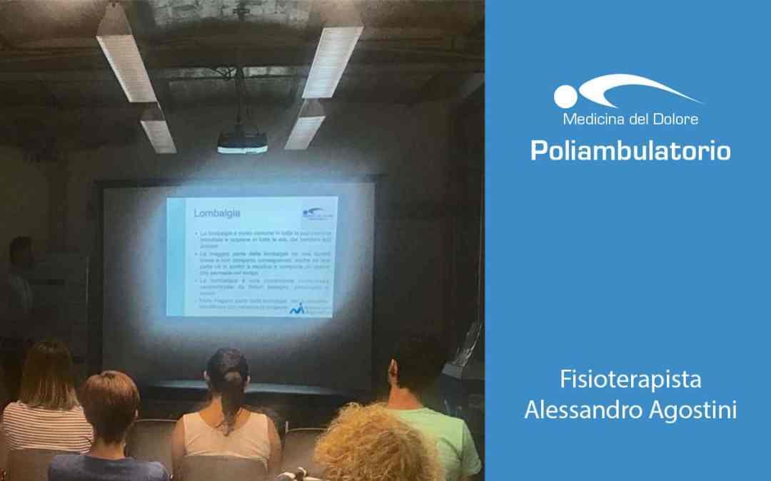 La lombalgia in fisioterapia e riabilitazione con Alessandro Agostini