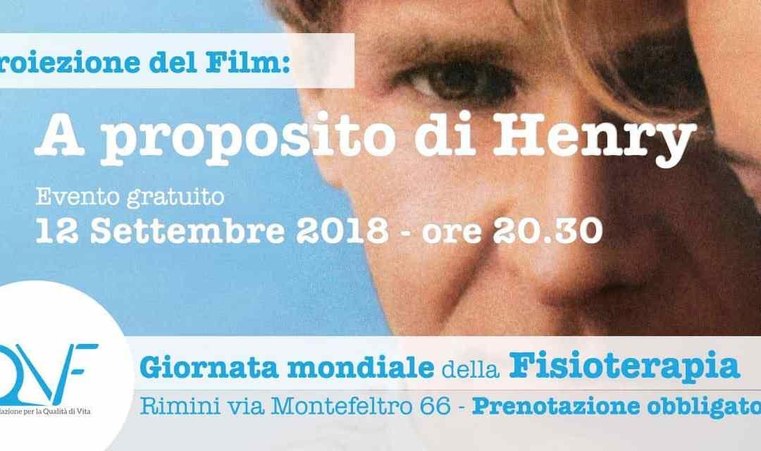 Giornata Mondiale della Fisioterapia: visione del film A proposito di Henry
